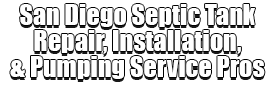 San Diego Septic Tank Repair, Installation, & Pumping Service Pros - Logo